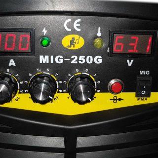 MIG-MMA 250G CO2 ТЕЛОПОДАВАЩ АПАРАТ С ЕЛЕКТРОЖЕН